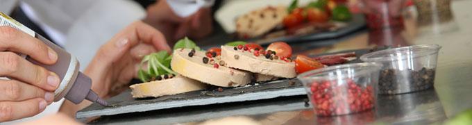 Sugerencia de presentación del foie gras de oca o pato