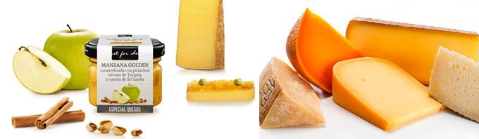 Mermelada Gourmet de Manzana Golden caramelizada con pistachos tiernos de Turquía y canela de Sri Lanka - Just for Cheese Can Bech
