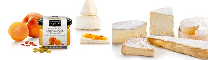 Mermelada Gourmet de Melocotón y Albaricoque con bayas de Gogui y cardamomo de Guatemala - Just for Cheese Can Bech
