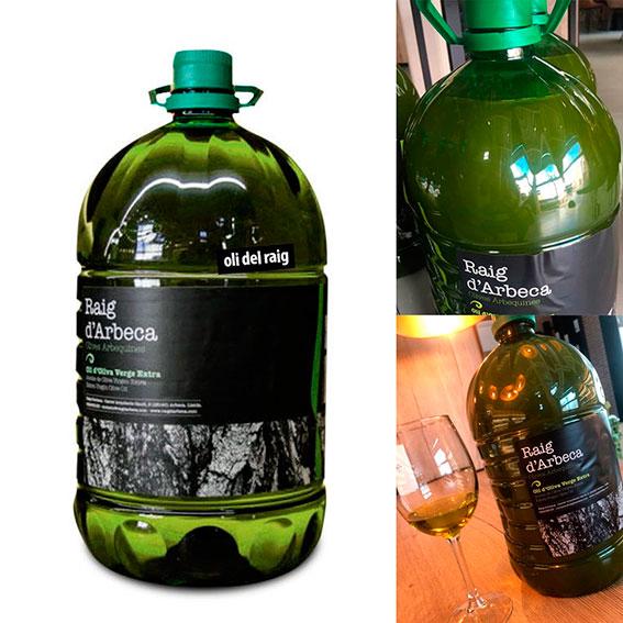 Aceite Oli del Raig sin filtrar, de Raig d'Arbeca