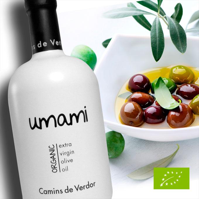 Aceite de oliva gourmet premium UMAMI