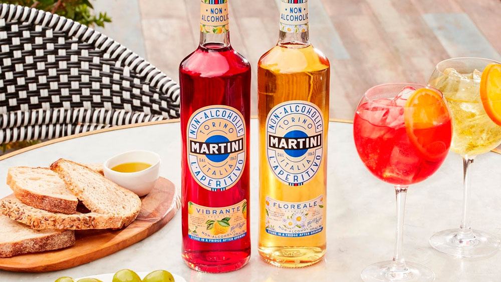 Vermut sin alcohol Martini Vibrante y Floreale