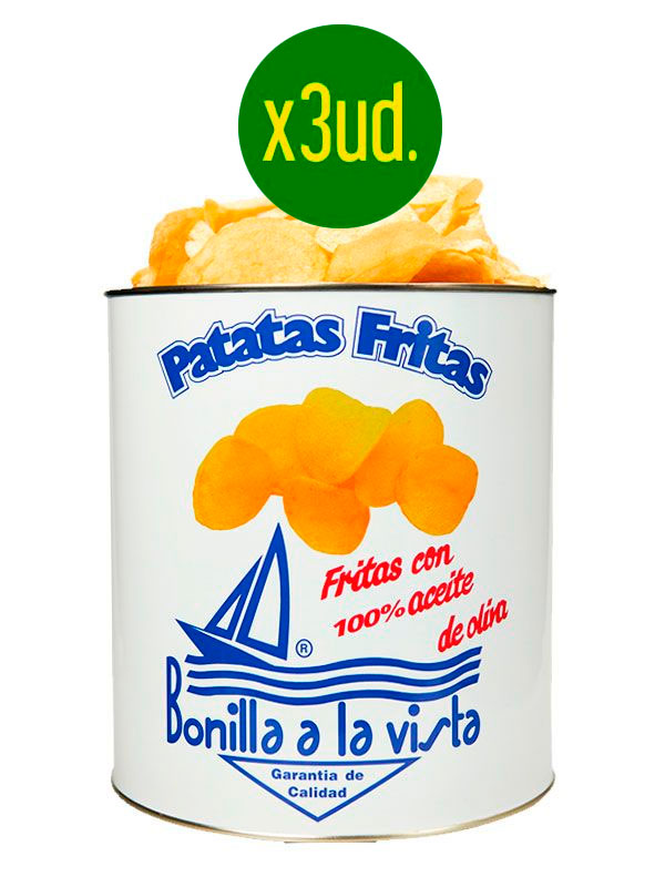 Oferta Patatas Fritas Bonilla x 3 latas