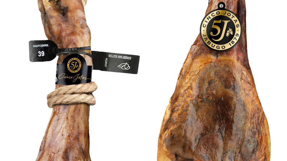Brida negra que certifica la calidad del Jamón Pata Negra