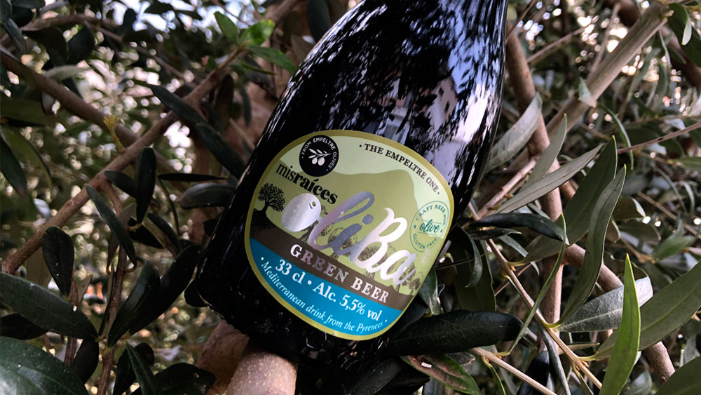 Cerveza The Empeltre One de Oliba Green Beer